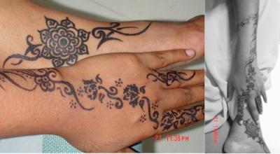 motif pour mains et pieds avec le meme dessin c beau non motifs pour tatouage au henne et. Black Bedroom Furniture Sets. Home Design Ideas